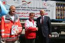 تحویل رسمی محموله بشر دوستانه صلیب سرخ آلمان