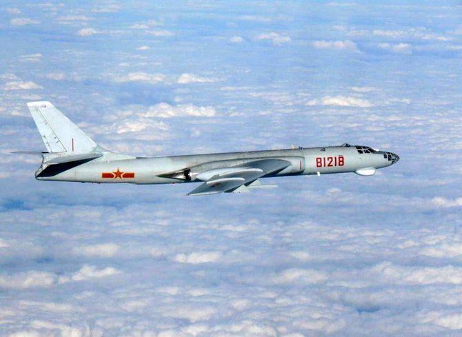 بمب افکن چینی حریم هوایی تایوان را نقض کرد