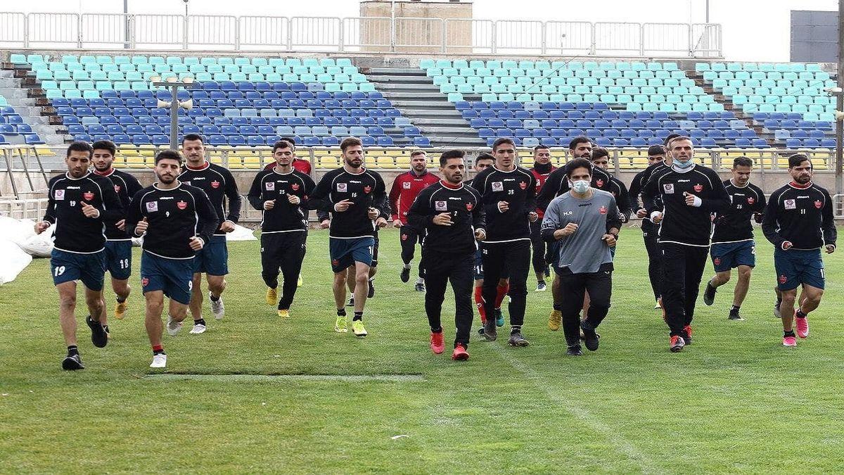 تمرین امروز پرسپولیس در ورزشگاه شهید کاظمی برگزار شد