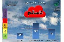 وضعیت هوای اصفهان قرمز شد