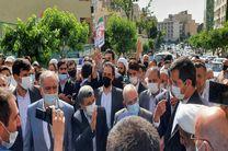 احمدی نژاد در ستاد انتخابات وزارت کشور حضور یافت