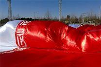 آماده سازی برافراشتن بزرگترین پرچم ایران در بازی با چین