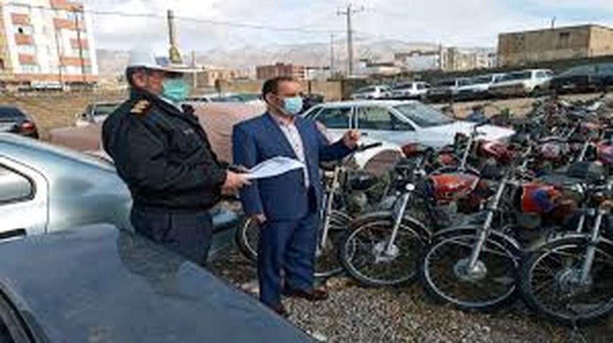 بیش از یکهزار موتورسیکلت های رسوبی تحویل مالکان شده است