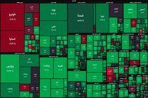 شاخص بورس در جریان معاملات امروز ۸ آذر ۹۹/ شاخص کل بورس سبزپوش شد