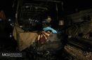 انسداد جاده پلدختر- خرمآباد بر اثر برخورد چهار خودرو