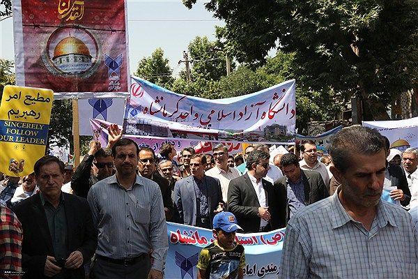 راهپیمایی روز جهانی قدس در کرمانشاه به اتمام رسید