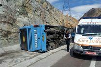 26 مجروح در پی سانحه رانندگی اتوبوس مسافربری در محور زاهدان- زابل