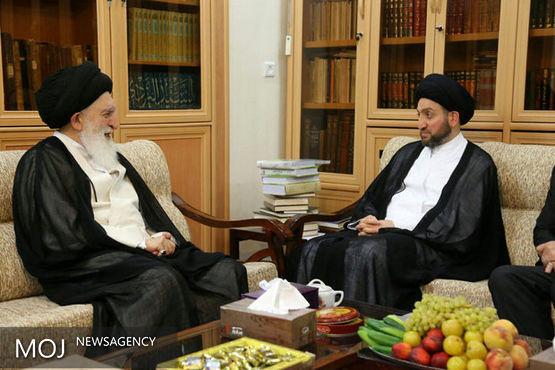 رئیس مجلس اعلای اسلامی عراق با آیت الله علوی بروجردی دیدار کرد