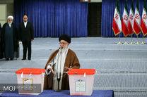 رهبر عالی ایران جزو اولین نفرات رای دهنده بود