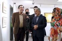 دیدار نوبخت از نمایشگاه نقاشی مریم حیدرزاده