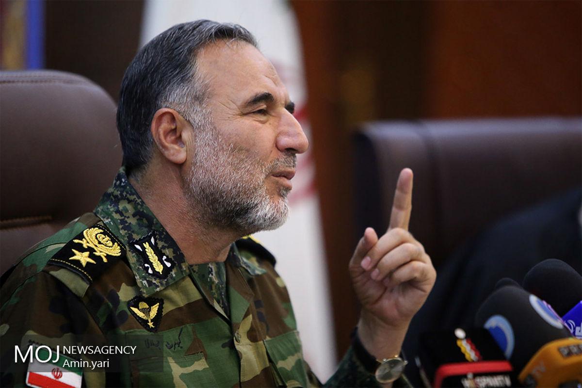 تاکید امیر حیدری بر خودکفایی نیروی زمینی ارتش در تولید پهباد