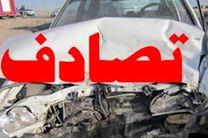 انحراف کامیون بنز باعث مرگ سرنشین نیسان شد
