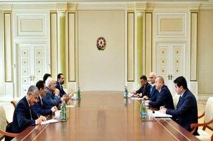 ظریف با رئیس جمهور آذربایجان دیدار کرد