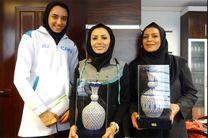 تجلیل از کیمیا علیزاده در حضور رئیس فدراسیون تکواندو