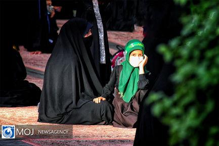 سوگواره ریحانه الحسین (ع) در حرم بانوی کرامت