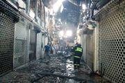 آتش سوزی بازار