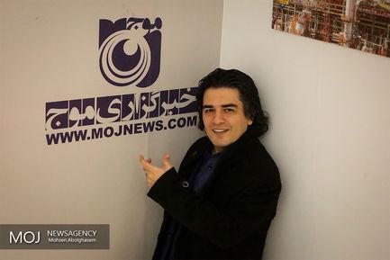 حضور+سامان+احتشامی+در+خبرگزاری+موج