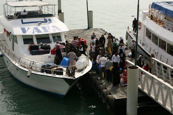 تردد دریایی از اسکله شهید حقانی بندرعباس به سمت اسکله ذاکری قشم برقرار است