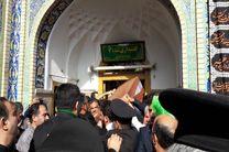 پیکر شهید حججی وارد مشهد شد