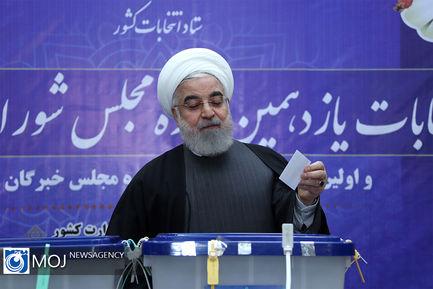 حضور رییس جمهوری در انتخابات یازدهمین دوره مجلس شورای اسلامی