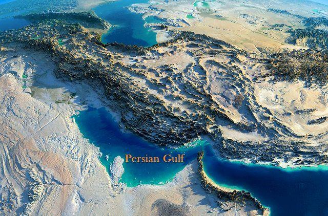مانور دریایی آمریکا در خلیج فارس