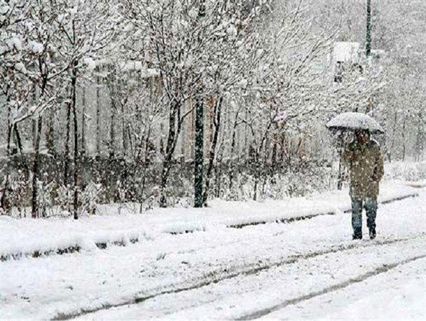 بارش باران و برف بر برخی از استان های کشور  در آخر هفته