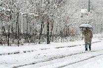 میزان بارش برف در ندوشن بیش از پنج سانتیمتر است