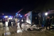 واژگونی مرگبار اتوبوس در محور سوادکوه