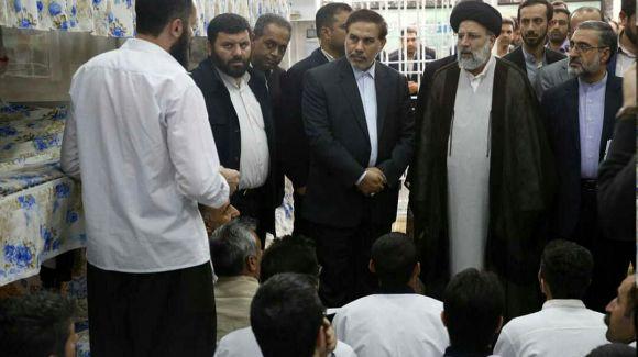 بازدید آیت الله رئیسی از بند زندانیان امنیتی کردستان