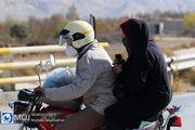 اهدای کلاه ایمنی به موتورسیکلت سواران مازندرانی