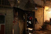 مهار آتش سوزی در بازار بزرگ اصفهان/ به مغازه های اطراف خسارت وارد نشده است