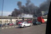 آتش سوزی در ایستگاه قطار قاهره