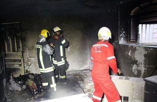 آتش سوزى عمدى منزل در بندرعباس