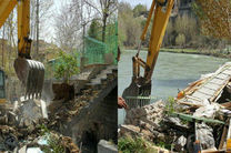 آغاز تخریب 20 ویلا در حاشیه رودخانه زاینده رود