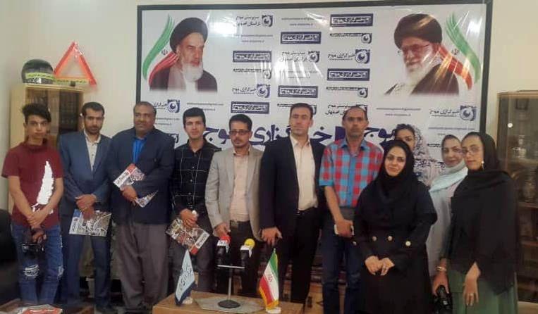 بازدید جمعی از اصحاب رسانه استان یزد و شهرستان میبد از دفتر خبرگزاری موج