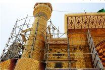 اتمام بازسازی ایوان نجف در تابستان ۱۴۰۱ توسط ایرانی ها