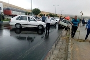 مصدومیت 6 نفر در تصادف زنجیره ای در محور گرگان به کردکوی
