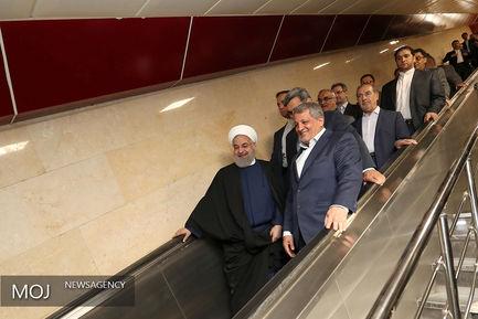 افتتاح همزمان سه پروژه شهر تهران با حضور رییس جمهوری