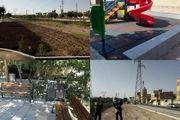 توسعه و نگهداری فضای سبز در منطقه 6 شهرداری قم