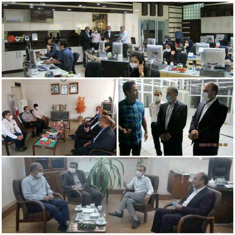 بازدید عضو هیات مدیره شرکت مخابرات از مراکز مخابراتی در اصفهان
