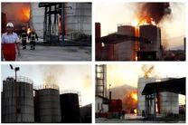 حریق مرگبار کارخانه مشتقات نفتی در کرمانشاه/ آتش سوزی مهار شد