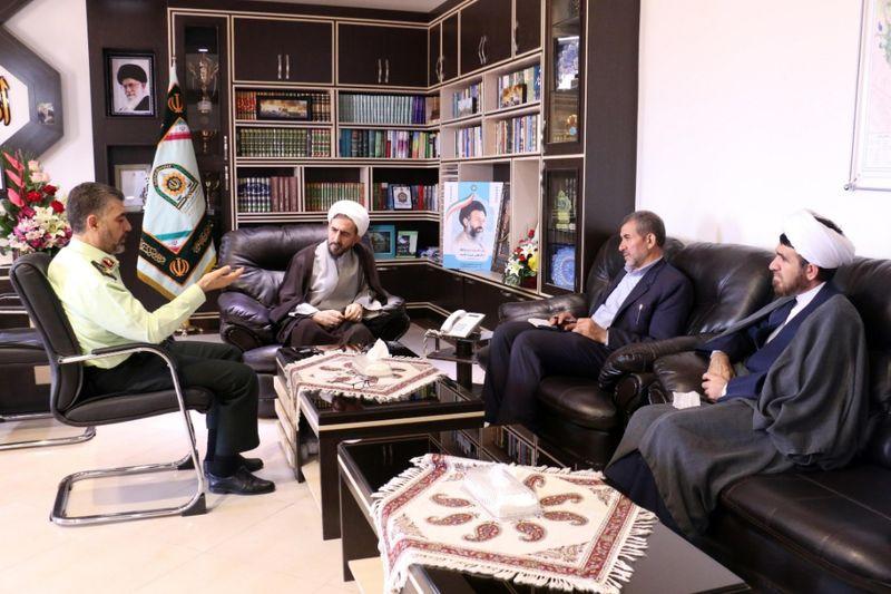 رئیس کل دادگستری با فرمانده جدید نیروی انتظامی قم دیدار کرد