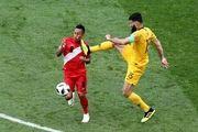 پایان نیمه نخست استرالیا و پرو با برتری پرو