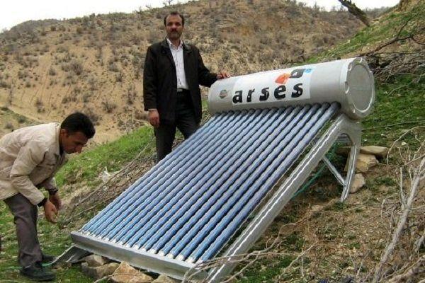 تعداد 46 آبگرمکن خورشیدی رایگان در منطقه قلایی نصب شد