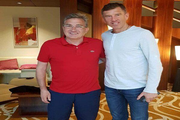 دیدار برانکو با سرمربی تیم ملی فوتبال عراق