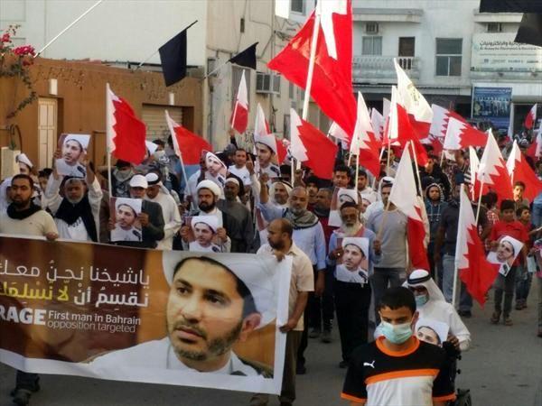 تظاهرات گسترده مردم بحرین درحمایت از شیخ عیسی قاسم