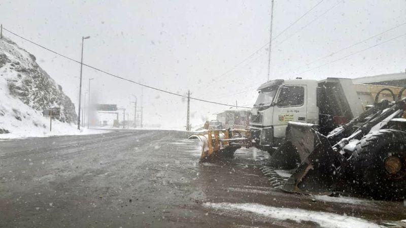 بارش سنگین برف در محور کنداون