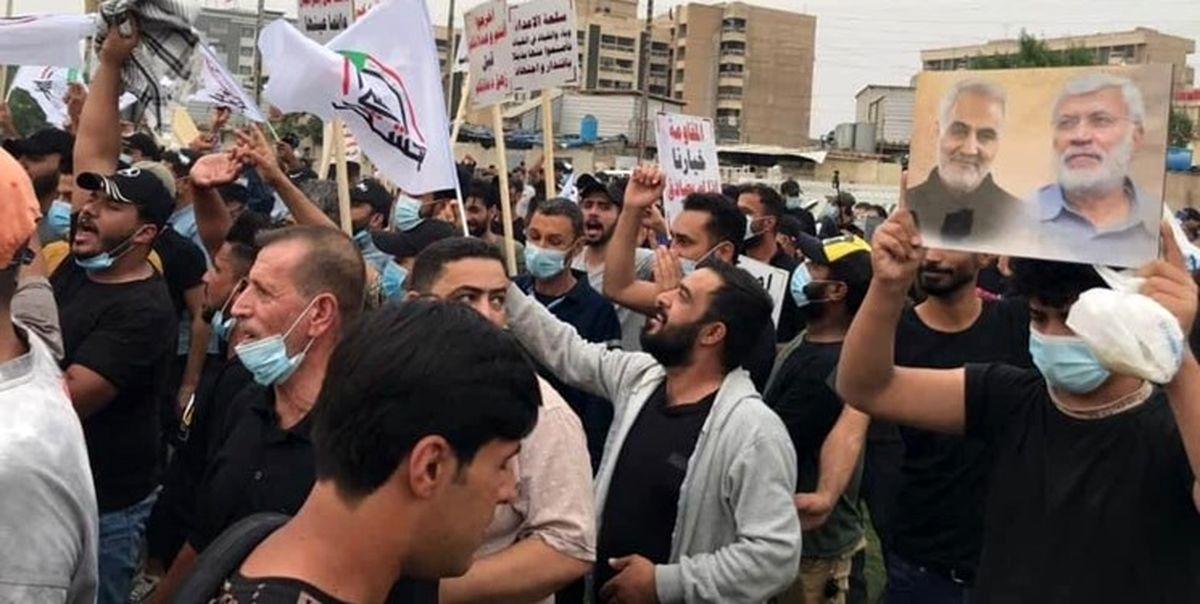 تظاهرات مردم عراق در اعتراض به حضور نظامیان آمریکایی