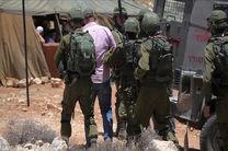 رژیم صهیونیستی7 فلسطینی را در کرانه باختری بازداشت کرد