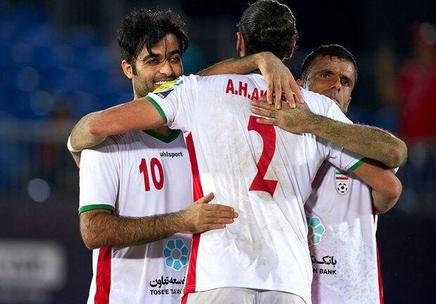 نتیجه دیدار فوتبال ساحلی ایران و اسپانیا/ سومین قهرمانی ایران در جام بین قاره ای